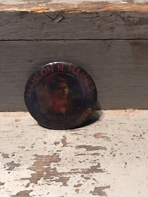 Mahlon haines Shoe Wizard Advertising Pocket Mirror 2.25 inches YORK, Pa