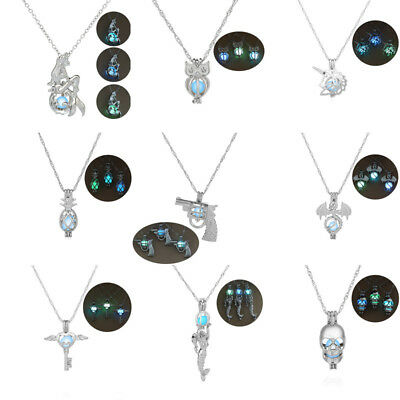 Halloween Women Mens Necklace Noctilucence Glow Pendant Choker DIY Chain Jewelry