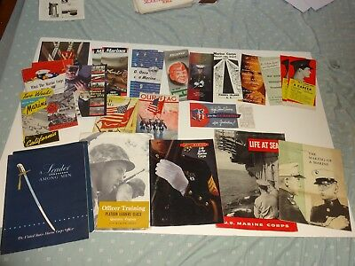 huge lot of usmc recruiting pamphlets booklets marine corps