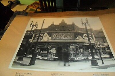 8/10 Black & White Coca Cola Store Front From Salesman Book Eastern Drugs L.a
