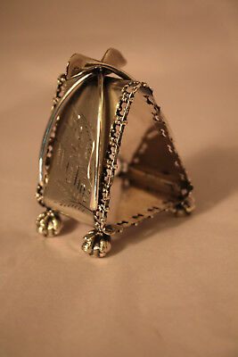 Aesthetic Silver Plated Napkin Ring Wishbones Claw Foot Meriden 630 Mint Condt