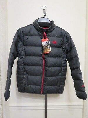 The North Face Boys B Andes Down Jacket Grey Youth Puffer Large Extra Large New