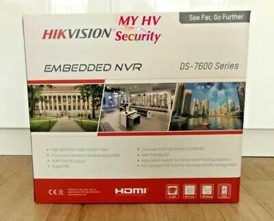Hikvision DS-7608NI-I2-8P 8 Channel 4K NVR 3TB POE Genuine AU Stock 3Yr Warranty