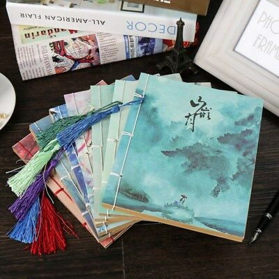 1pc Vintage Retro Journal Diary Blank Book Writing Book Chinese Style Notebook
