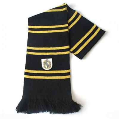 Harry Potter Hufflepuff Thicken Wool Knit Scarf Wrap Warm Costume Xmas  Gift