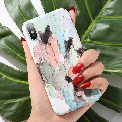 For iPhone X 6 6S 7 8 Plus Pattern Luminous TPU Soft Cover Case Skin Back