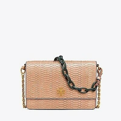 266bb9253bf4 Tory Burch SOLDOUT Kira Snake Double Strap Shoulder Bag in Perfect Sand