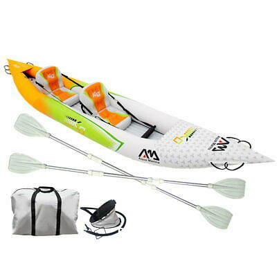 2 Person Inflatable Stand-up Paddle Board Kayak Boat Canoe Seats