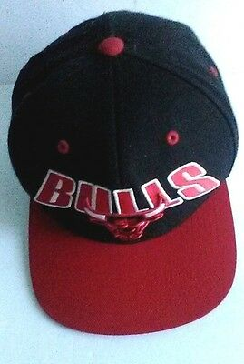 9b061c192bd Chicago Bulls Snapback Hat Mitchell   Ness 100% Wool Cap NBA Bulls Flashback