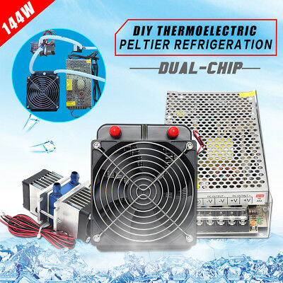 Thermoelectric Peltier Refrigeration Cooler+Pump+Water Cooling +Power supply Kit