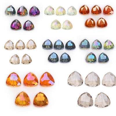 18mm 20ps Faceted Glass Crystal Triangle Loose Beads Spacer Jewelry Necklace DIY