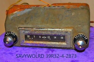 1950's old 1955 CHEVY CHEVROLET GM Delco Classic RETRO original car dash RADIO