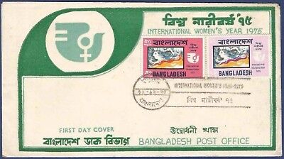 Bangladesh 1975 Mnh Fdc First Day Cover International Women´s Year Woman´s Head
