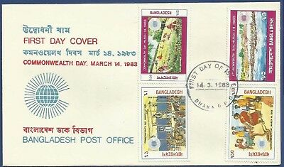Bangladesh 1983 Mnh Fdc First Day Cover Commonwealth Day March 14