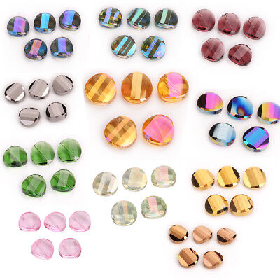 18mm 10pcs Glass Crystal Spacer Loose Beads Necklace Earring Bracelet DIY Making