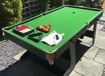 Bce 6 Foot Folding Snooker Pool Table And Accessories