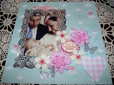 "Scrapbook Page ""life Is The Most Wonderful Fairytale""....huge Sale"