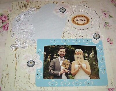 "SCRAPBOOK PAGE 12 X 12 ""Promise""...wedding page...HUGE SALE"