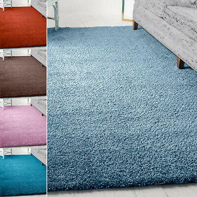 Large Thick Plain Soft Shaggy 5 cm PILE Rug Living Room Bedroom Floor Carpets