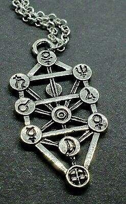 Kabbalah Tree of Life Geometric Pendant Jewish Sephirot Necklace Jewellery