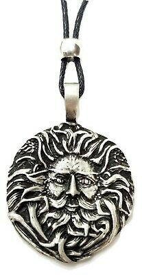 Belenos Pendant Sun God Celtic Pagan Wiccan Pewter Cord Necklace Jewellery