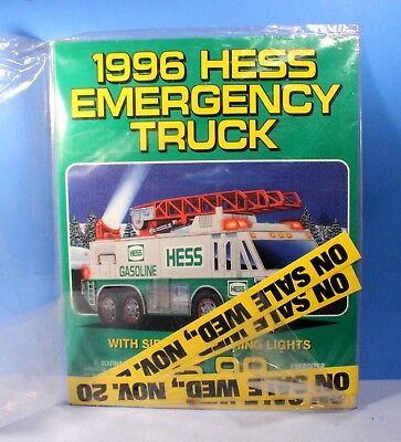 Hess Gasoline 1996 Collectible Dealer's Poster Kit for Emergency Truck *New*