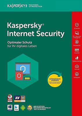 Kaspersky Internet Security 2017/2018 3 PC / 2 Jahr / Antivirus / Download
