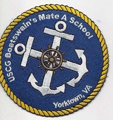 "USCG United States Coast Guard Patch Boatswain's Mate"" Yorktown, VA. 4 In #1776"