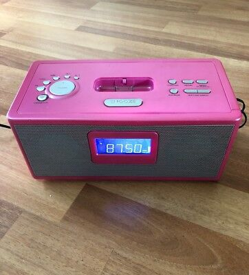 RED iPod Dock Pink And radio 583291