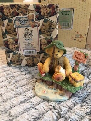 "Cherished Teddies ""patience Fisherman's Virtue"" Norm 476765  New"
