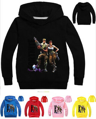 Kids Hoodies Game Fortnite Girls Boys Sweatshirt Coat Hooded Clothing 2-11Years