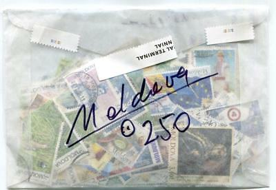 MD250. Moldova, 250 different stamp collection