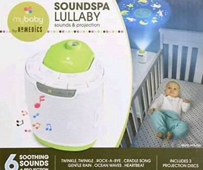 MyBaby, SoundSpa Lullaby Sound Machine & Projector | Choose From 6 Soothing & |