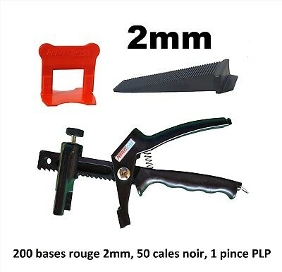 Kit 2mm croisillon autonivelant professionnel 200/50/pince PerfectLevel PLP.