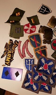 Group of Korean War Patches and Pins