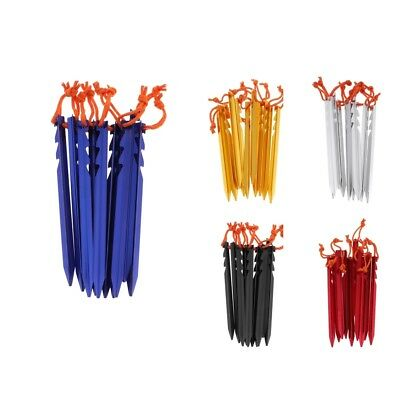 10Pcs Heavy Duty Camping Tent Stakes Pegs Awning Shelter Canopy Ground Nails
