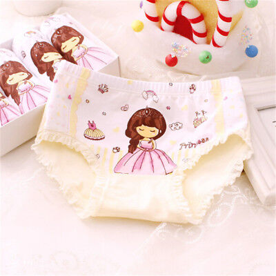 Baby Kids Girls Underpants Cotton Panties Child Underwear Short Briefs GX
