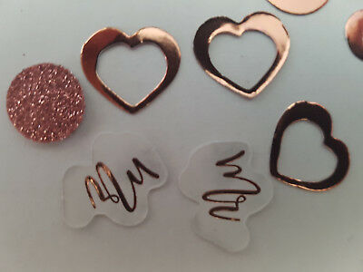 5 x 14g PACKS ROSE GOLD  Mr & Mrs  TABLE CONFETTI WEDDING PARTY DECORATION