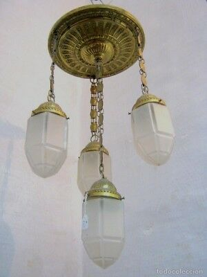 1900 Lampara Lamp Art Nouveau tulipas Diamante . Art Deco Modernista