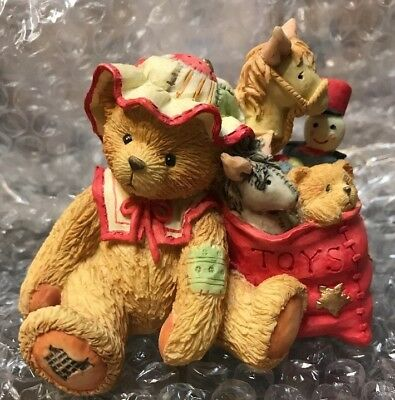 Cherished Teddies - CAROLYN - w/Toy Bag Figurine - BNIB