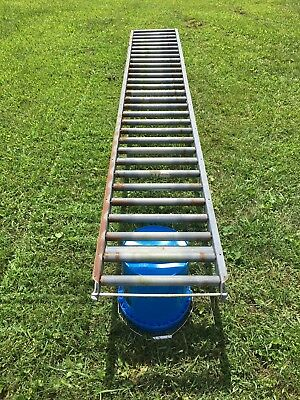 "10' Section Hytrol Medium Duty Conveyor Roller 16X1-1/4"" Rollers Saw Table"