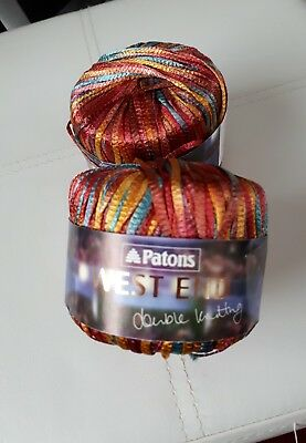2 x 50g variagated ribbon for use on knitting machines etc see description