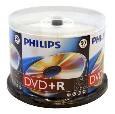 Philips 50-Pack DVD+R 16X Media Cake Box