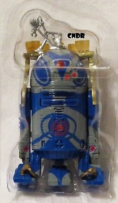 """Star Wars Series LOOSE 3.75"""" Figure R2-C2 Black Sun blue Droid with Serving Tray"""