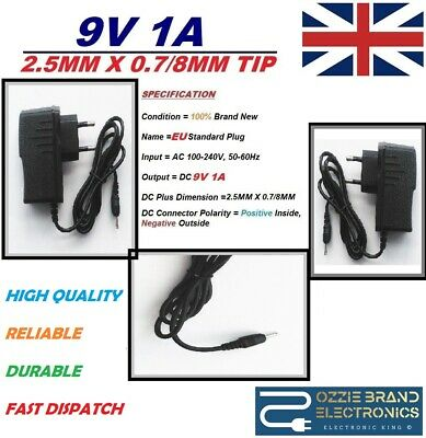 Eu 9V Charger Power Adapter Plug To Fit Nono Hair Removal Pro5/pro3/8800 Models
