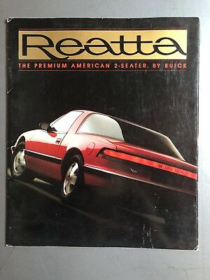 1989 Buick Reatta Coupe Showroom Advertising Sales Brochure RARE!! Awesome L@@K