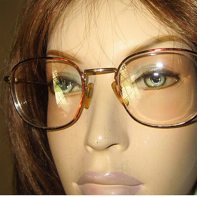 Vntg BERDEL ITALY 1156 Gep Tortoise GOLD PLATED Rose Tint Eyeglasses - Perfect