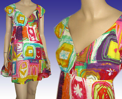 """JAMS WORLD """"Eye Candy"""" Baby Doll Dress MADE IN HAWAII - XS - Ex Condition"""