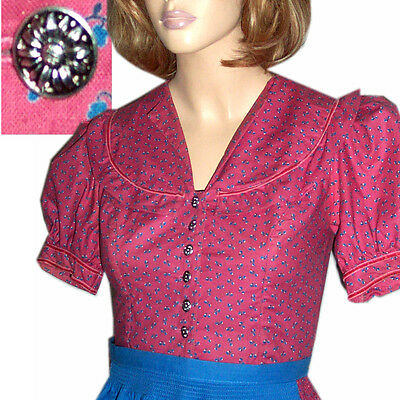 Bavarian DIRNDL Trachten Buttons - Calico Bust 33 Bo Peep Country Praire Calico