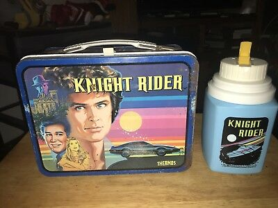 Vintage 1982 Knight Rider Metal Lunch Box with Thermos